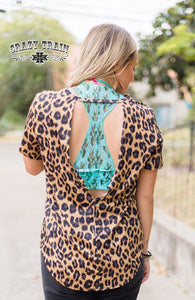 BACK OFF TOP ** LEOPARD Open Back Top ~ Crazy Train - The Hot Polka Dot