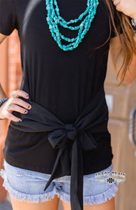 BACK ON BLACK BOW TIE TOP ~ Crazy Train - The Hot Polka Dot