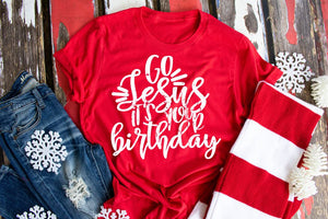 Go Jesus It's your Birthday Red Christmas Shirt, Cute Christmas Shirts - The Hot Polka Dot