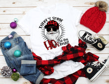 Load image into Gallery viewer, *BLEACHED* There's Some HOs in the House, Buffalo Plaid, Adult Santa Claus Shirt