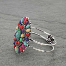 Load image into Gallery viewer, Bright Multi Colored Conch Bracelet, Western Style Stone Hinge Bracelet - The Hot Polka Dot