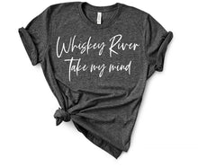 Load image into Gallery viewer, Whiskey River Take my Mind Shirt or Tank, Willie Nelson Song Lyrics, Choose Style & Colors - The Hot Polka Dot
