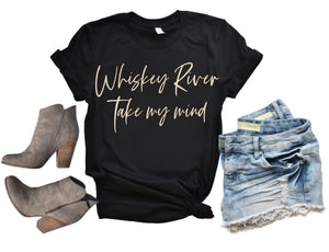 Whiskey River Take my Mind Shirt or Tank, Willie Nelson Song Lyrics, Choose Style & Colors - The Hot Polka Dot