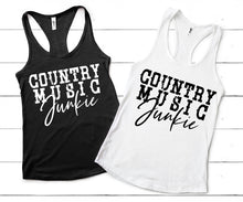 Load image into Gallery viewer, COUNTRY  MUSIC JUNKIE Shirt or Tank,  Choose Style & Colors - The Hot Polka Dot