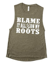 Load image into Gallery viewer, Blame it all on my Roots Shirt or Tank,  Choose Style & Colors, Garth Brooks - The Hot Polka Dot