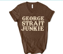 Load image into Gallery viewer, GEORGE STRAIT JUNKIE Shirt or Tank,  Choose Style & Colors - The Hot Polka Dot
