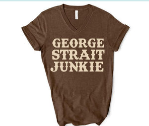 GEORGE STRAIT JUNKIE Shirt or Tank,  Choose Style & Colors - The Hot Polka Dot