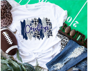Dallas COWBOYS Paint Stroke Logo Design, Choose Shirt Style & Color - The Hot Polka Dot