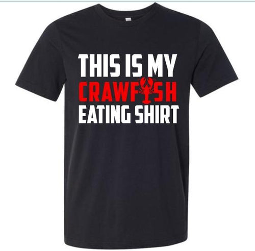 Crawfish Collection, MEN'S This is My Crawfish Eating Shirt, Choose Shirt Color - The Hot Polka Dot