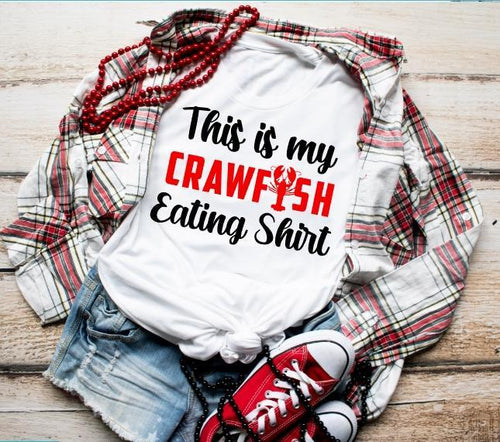 Crawfish Collection, This is My Crawfish Eating Shirt, Choose Shirt Style & Color - The Hot Polka Dot