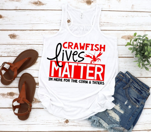 Crawfish Collection, Crawfish Lives Matter, Choose Shirt Style & Color - The Hot Polka Dot