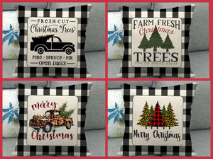 18x18 Christmas Pillow Cover, 4 DESIGNS to choose from