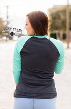 Load image into Gallery viewer, DON'T YOLK AROUND Easter Egg Baseball Raglan ~ Crazy Train - The Hot Polka Dot
