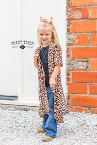 *GIRLS* Dixie Leopard Print Duster ~ Crazy Train - The Hot Polka Dot