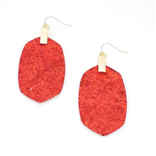 Load image into Gallery viewer, *CLEARANCE* RED Glitter Earrings