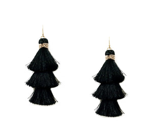 *CLEARANCE* Mauve Tassel Earrings - The Hot Polka Dot