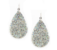 Load image into Gallery viewer, BLACK Glitter Teardrop Earrings - The Hot Polka Dot