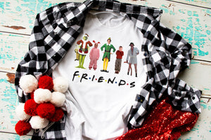 EPIC Christmas Movie Shirt, FRIENDS Christmas Shirt, Home Alone, Christmas Carol, Griswold, Choose Shirt Style - The Hot Polka Dot