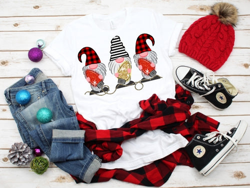 Christmas Gnome Christmas Lights, Cute Christmas Gnome Shirt, Choose Shirt Style - The Hot Polka Dot