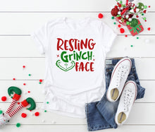 Load image into Gallery viewer, Resting Grinch Face, Grinch Christmas Shirt, Funny Christmas Shirt - The Hot Polka Dot
