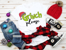 Load image into Gallery viewer, Grinch Please, Grinch Christmas Shirt, Funny Christmas Shirt - The Hot Polka Dot