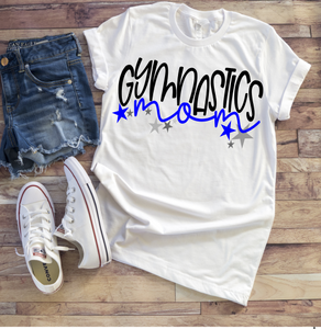 GYMNASTICS MOM Shirt or Tank, Choose Shirt and Design Colors - The Hot Polka Dot