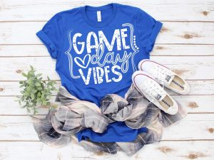 Game Day Vibes, Game Day Graphic Tee, Choose Shirt Color - The Hot Polka Dot