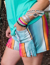 Load image into Gallery viewer, JUST GOT SUEDE SHORTS Serape Print Shorts ~ Crazy Train - The Hot Polka Dot