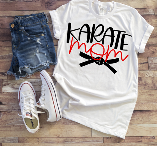 KARATE MOM Shirt or Tank, Choose Shirt and Design Colors - The Hot Polka Dot