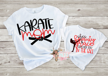 Load image into Gallery viewer, She's Beauty & Grace She'll Kick you in the Face, Girls Karate Shirt - The Hot Polka Dot