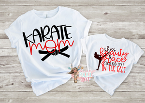 She's Beauty & Grace She'll Kick you in the Face, Girls Karate Shirt - The Hot Polka Dot