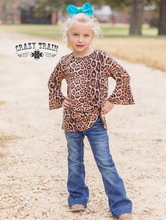 Load image into Gallery viewer, *GIRLS* KNOT FOR LONG Leopard Print TOP ~ Crazy Train - The Hot Polka Dot