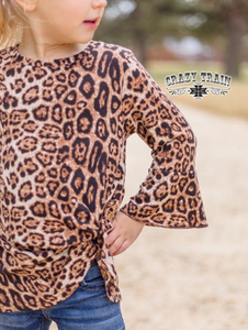 *GIRLS* KNOT FOR LONG Leopard Print TOP ~ Crazy Train - The Hot Polka Dot
