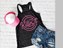 Load image into Gallery viewer, Killin It Graphic Tee or Tank, Choose Shirt Color & Style - The Hot Polka Dot