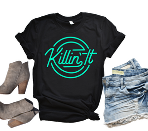 Killin It Graphic Tee or Tank, Choose Shirt Color & Style - The Hot Polka Dot