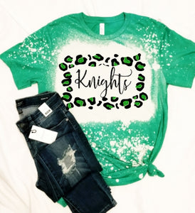 KNIGHTS Leopard Frame, All Glittered Spirit Game Day Shirt, Knights Pride Shirt