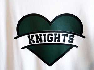 Girls KNIGHTS Shirt Designs, School Mascot Shirts, Sweatshirt, Raglan or Hoodie, YOU CHOOSE - The Hot Polka Dot