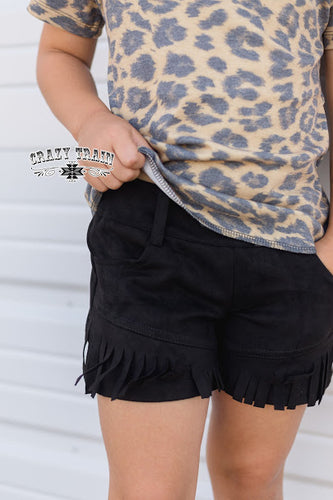 *GIRLS* PERFECT PAIR BLACK SHORTS ~ Crazy Train - The Hot Polka Dot