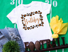 Load image into Gallery viewer, La Porte Bulldogs Leopard Frame, All Glittered Spirit Game Day Shirt, LP Bulldogs School Spirit Shirt