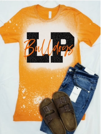 **BLEACHED* La Porte Bulldogs Spirit Game Day Shirt, LP Bulldogs School Spirit Shirt