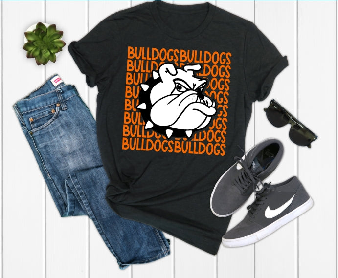 La Porte Bulldog with Bulldog Mascot Graphic Tee