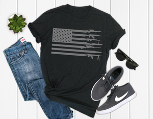 Gun American Flag, Men's Graphic Tee