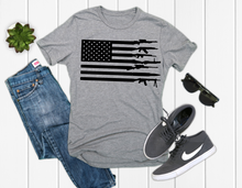 Load image into Gallery viewer, Gun American Flag, Men's Graphic Tee