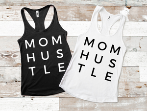 MOM HUSTLE Graphic Tee, Choose Shirt Color & Style - The Hot Polka Dot