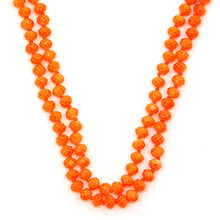 Load image into Gallery viewer, BRIGHT ORANGE Beaded Necklace