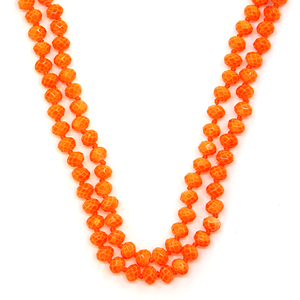 BRIGHT ORANGE Beaded Necklace