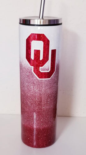 OU Football Team Glitter Tumbler - Or Your Team