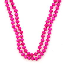 Load image into Gallery viewer, NEON PINK Beaded Necklace