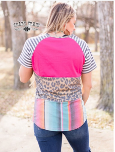 POLLY PATTERN BLOCK TOP ~ Crazy Train - The Hot Polka Dot