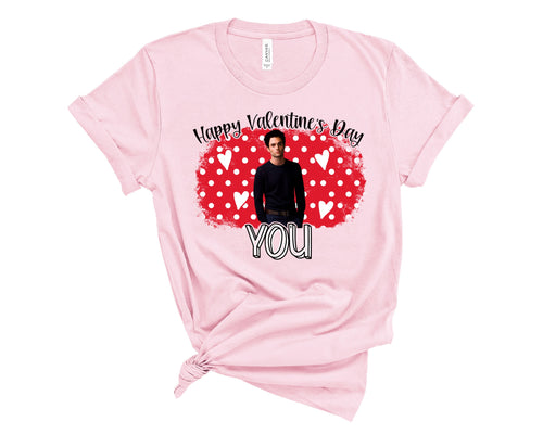 Happy Valentine's YOU Shirt, Valentine's Day Shirt, Choose Shirt Color - The Hot Polka Dot